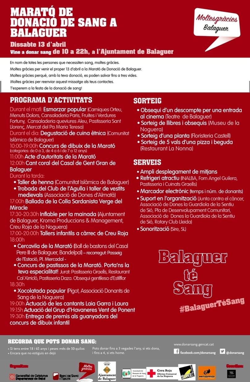 Balaguer. Programa
