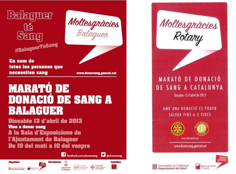 Marato a Balaguer i Catalunya
