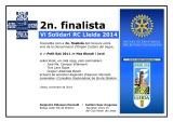 DIPLOMA 2n.finalista VI SOLIDARI RC LLEIDA 2014_Petit Saó 2011 Mas Blanch i Jové