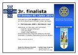 DIPLOMA 3r.finalista VI SOLIDARI RC LLEIDA 2014_Saó Expressiu 2008 Mas Blanch i Jové