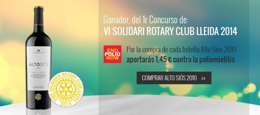 "PEDIDOS: ""Vino Solidario Rotary Club Lleida 2014"" – Alto Siós 2010, de Bodegas Costers delSió…"