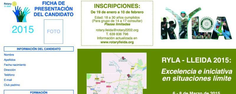 RYLA Lleida 2015: Excelencia e iniciativa en situacioneslímite…