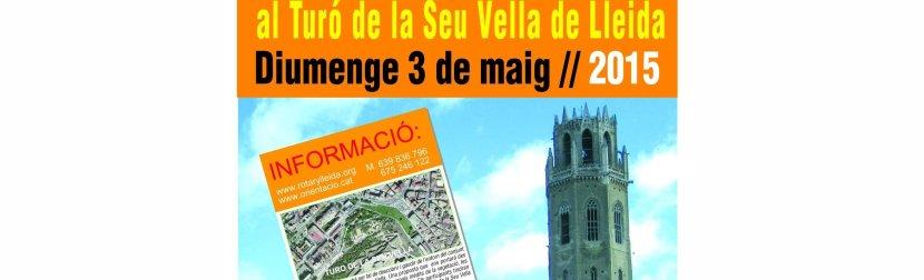 IMATGES i mèdia 3a Cursa Rotària d'Orientació -1a Rogaine- al Turó de la Seu Vella de Lleida. Diumenge 3 de maig //2015