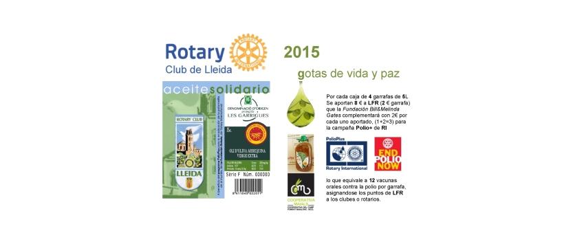 """Aceite Solidario 2015-16 del RC de Lleida: """"Oli d'oliva verge extra Baró deMaials""""…"""