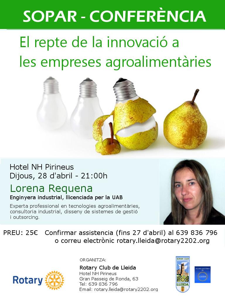 Lorena Requena. Invitació conferència