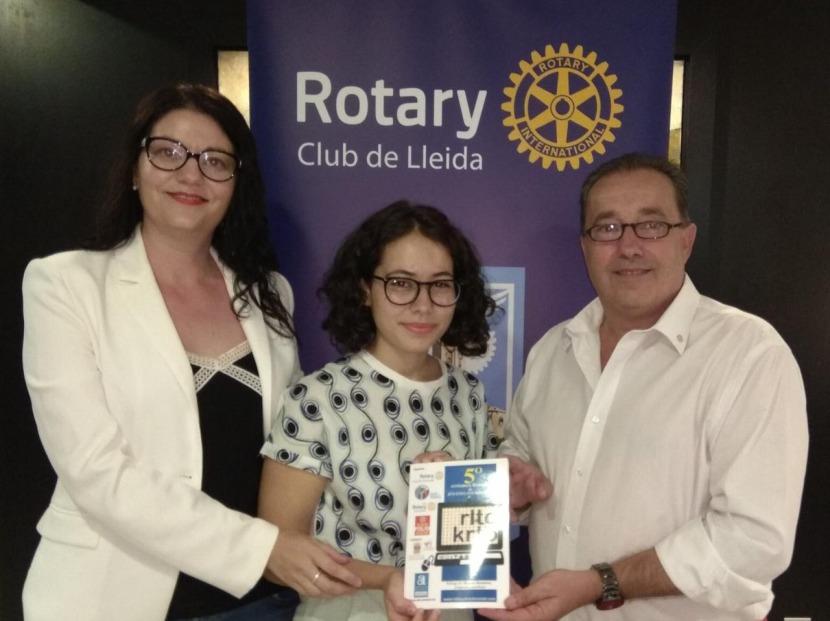 Una jove de Lleida premiada pel Rotary Club d'Almoradí al V Certamen Literari de jovesescriptors